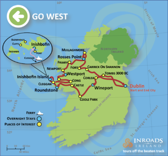 Map Of The West Of Ireland.Ireland Tours 2020 Western Ireland Small Group Tours Summer Tour