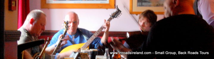 Traditional Irish music session, Go North tour with Inroads Ireland tours