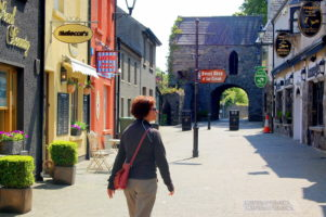 Medieval town on Go North tour Ireland