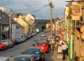 Mingle with the locals in small town, rural Ireland