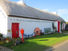 Thatch roof cottage, Malin Head, Inishowen Peninsula, Go North tour