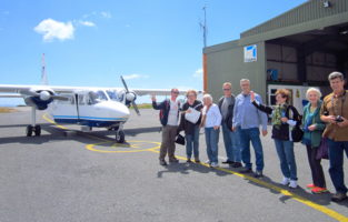 Chartered flight to Inis Mor, Aran Islands, Go West tour, Ireland